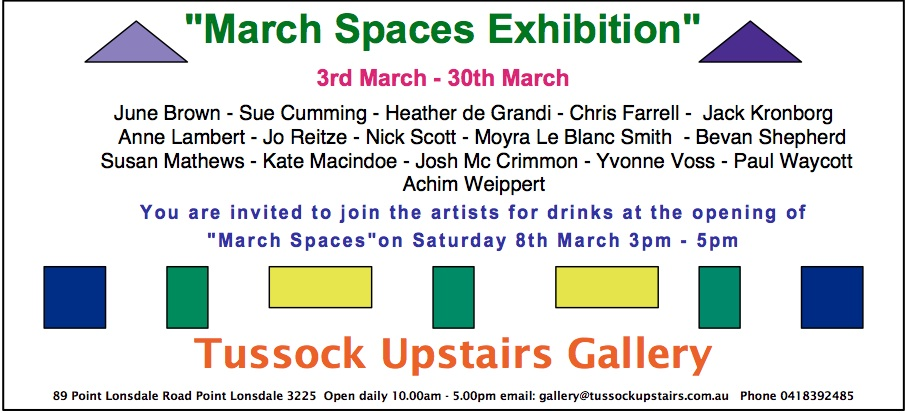 March Spaces invitation